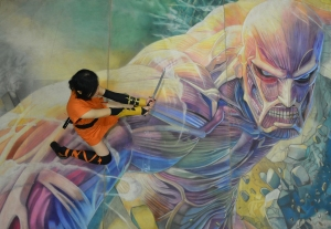 Anime Expo - Attack on Titan by Chalk Twins!
